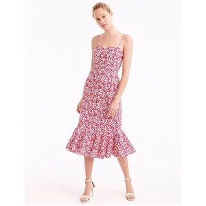 J. Crew Ruffle-Hem Liberty Wiltshire Floral Dress